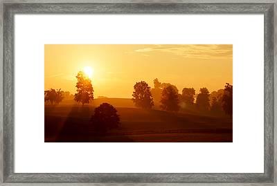 Kentucky Morning Framed Print by Keith Bridgman