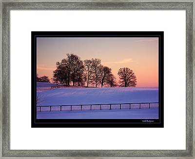 Kentucky Morning Snow Framed Print by Keith Bridgman