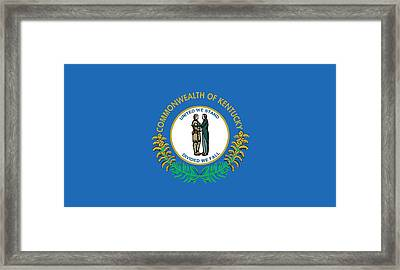 Kentucky State Flag Framed Print by American School