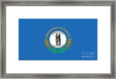 Kentucky State Flag Framed Print