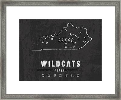 Kentucky Wildcats Country Framed Print by Damon Gray