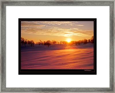Kentucky Winter Sunrise Framed Print by Keith Bridgman