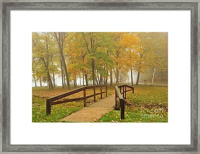 Kenwood Park In Cadillac Michigan Framed Print by Terri Gostola