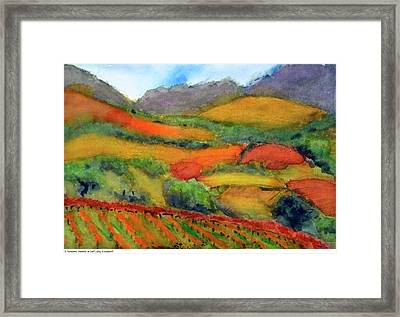 Kenwood Wineries In Fall Framed Print