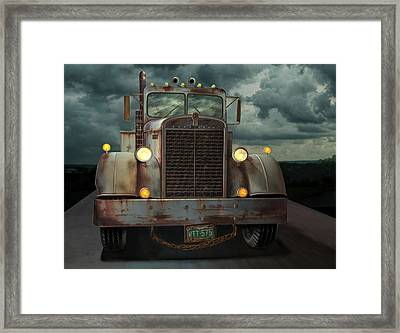 Kenworth Old Workhorse Framed Print by Stuart Swartz