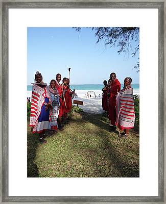 Kenya Wedding On Beach Maasai Bridal Welcome Framed Print