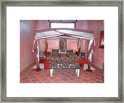 Kenyan African Traditional Double Bed Framed Print