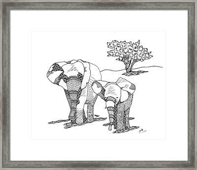 Kenyan Walk Framed Print