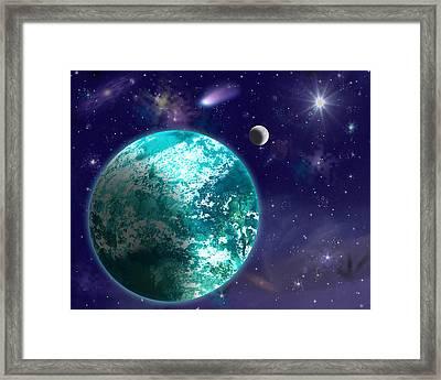 Kepler-22b New Earth Framed Print