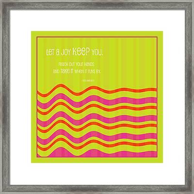 Kept By Joy Framed Print