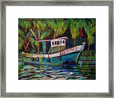 Kerala Fishing Boat  Framed Print