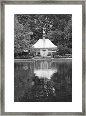 Kerbs Boathouse Central Park Framed Print by Christopher Kirby