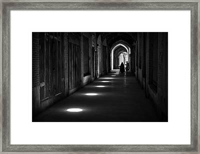Kerman Bazaar Framed Print by Farshad Davari