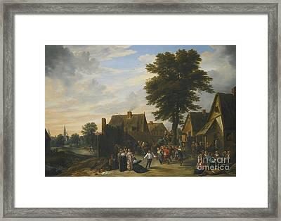 Kermesse Before The Half Moon Inn Framed Print