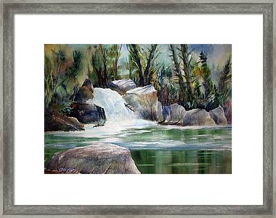 Kern River Light Framed Print
