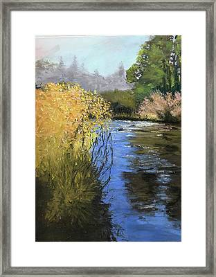 Kern River On A Fall Day Framed Print