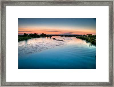 Kern River Sunrise Framed Print
