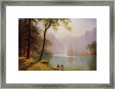 Kern S River Valley California Framed Print