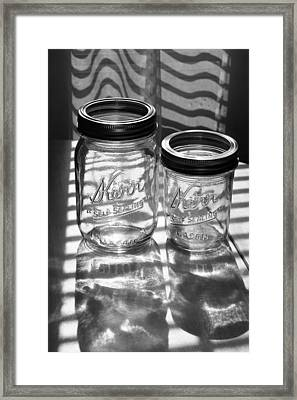 Kerr Jars Framed Print