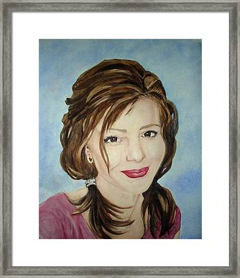 Kerra Lindsey  Self Portrait Framed Print by Kerra Lindsey