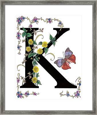 Kerria Japonica And Koh-i-noor Butterfly Framed Print by Stanza Widen