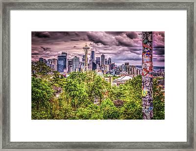 Kerry Park Grunge Framed Print