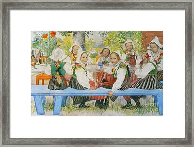 Kersti's Birthday Framed Print