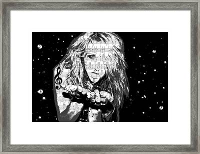 Kesha Framed Print by Brad Scott