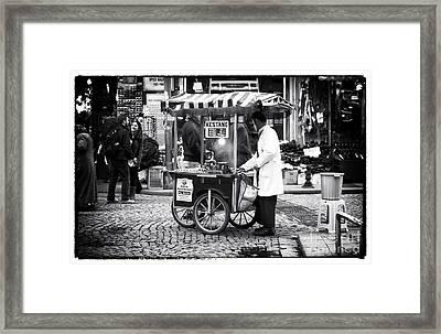 Kestane In Istanbul Framed Print by John Rizzuto