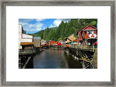 Ketchikan Creek Framed Print by Michael Peychich