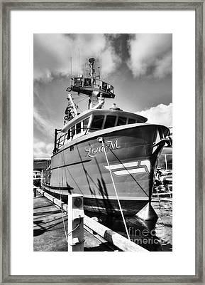 Ketchikan Fishing Boats 2 Bw Framed Print by Mel Steinhauer