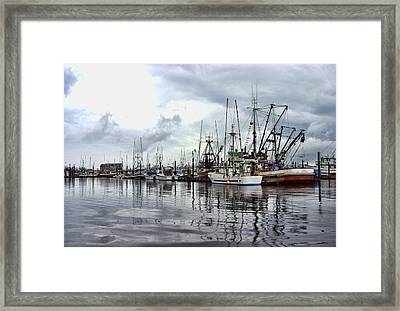 Ketchikan Harbor Framed Print by Marilyn Wilson