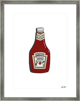 Ketchup Framed Print