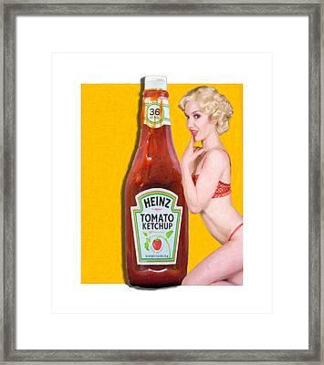 Ketchup Girl Framed Print by Wolfgang Wittling