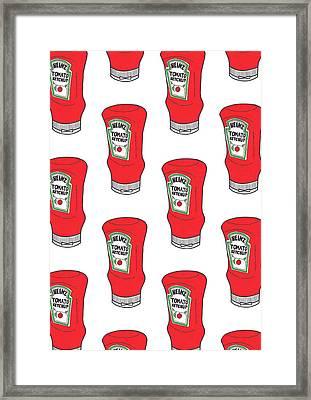 Ketchup Pop Framed Print