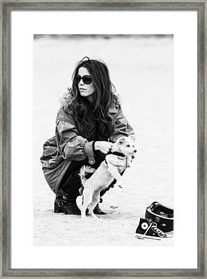 Framed Print featuring the photograph Kete Beckinsale by Ron Dubin