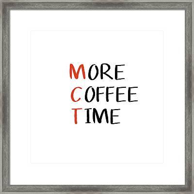 Keto Coffee- Art By Linda Woods Framed Print