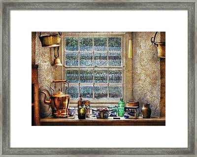 Kettle - Bubbe's Kitchen Framed Print by Mike Savad