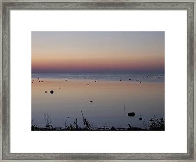 Kettle Point Sunset Framed Print