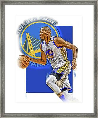 Kevin Durant Golden State Warriors Oil Art Framed Print