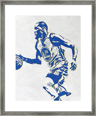 Kevin Durant Golden State Warriors Pixel Art Framed Print by Joe Hamilton