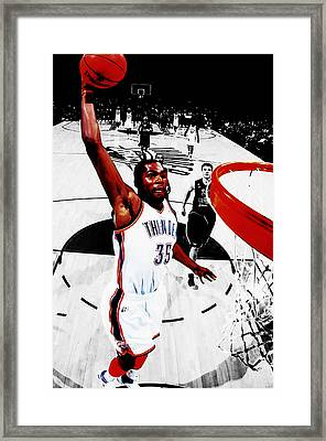 Kevin Durant Taking Flight Framed Print