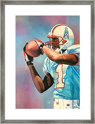 Kevin Dyson - Houston Oilers Framed Print by Michael  Pattison