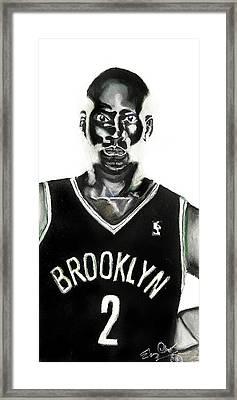 Kevin Garnett Framed Print by Ebony Thompson