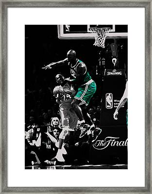 Kevin Garnett Not In Here Framed Print