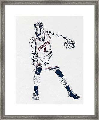 Kevin Love Cleveland Cavaliers Pixel Art Framed Print by Joe Hamilton