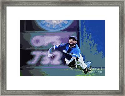 Kevin Pillar In Action Framed Print