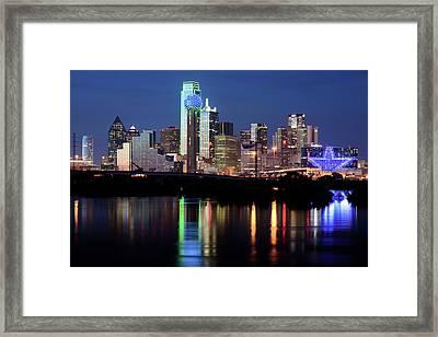 Kevin's Dallas Skyline Framed Print