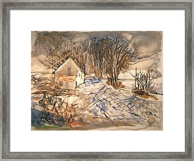 Kev's Barn Framed Print by Mike Shepley DA Edin