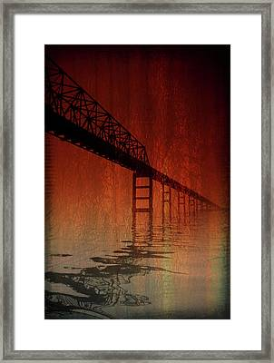 Key Bridge Artistic  In Baltimore Maryland Framed Print by Skip Willits